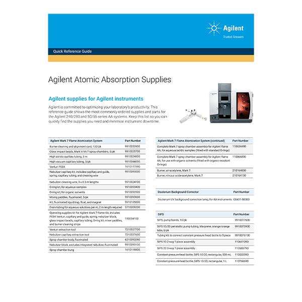 Atomic Absorption Supplies